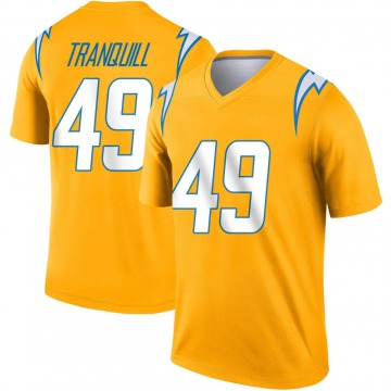 Youth Nike Los Angeles Chargers Drue Tranquill Gold Inverted Jersey - Legend