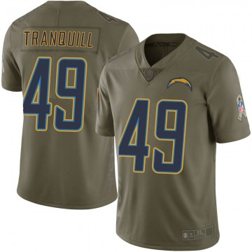 Youth Nike Los Angeles Chargers Drue Tranquill Green 2017 Salute to Service Jersey - Limited