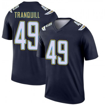 Youth Nike Los Angeles Chargers Drue Tranquill Navy Jersey - Legend