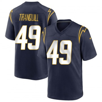 Youth Nike Los Angeles Chargers Drue Tranquill Navy Team Color Jersey - Game