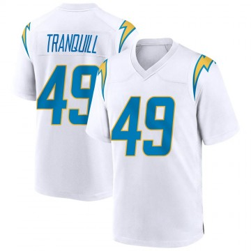 Youth Nike Los Angeles Chargers Drue Tranquill White Jersey - Game