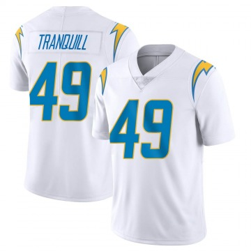 Youth Nike Los Angeles Chargers Drue Tranquill White Vapor Untouchable Jersey - Limited