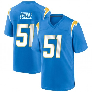 Youth Nike Los Angeles Chargers Emeke Egbule Blue Powder Alternate Jersey - Game