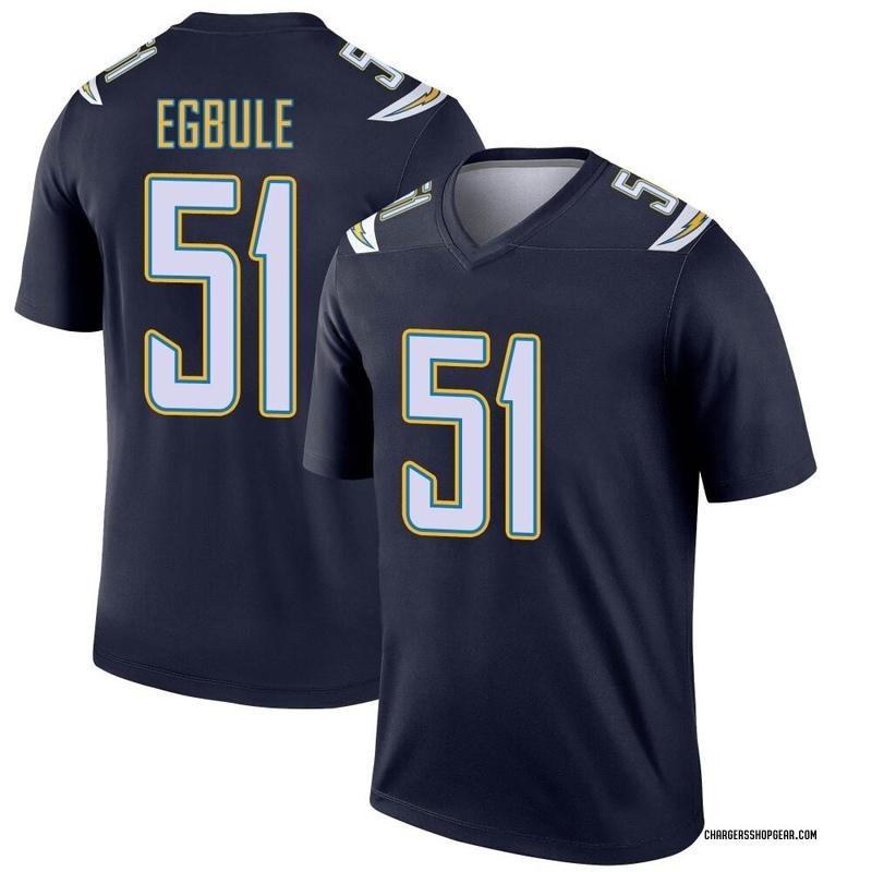 Youth Nike Los Angeles Chargers Emeke Egbule Navy Jersey - Legend