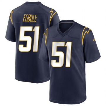 Youth Nike Los Angeles Chargers Emeke Egbule Navy Team Color Jersey - Game