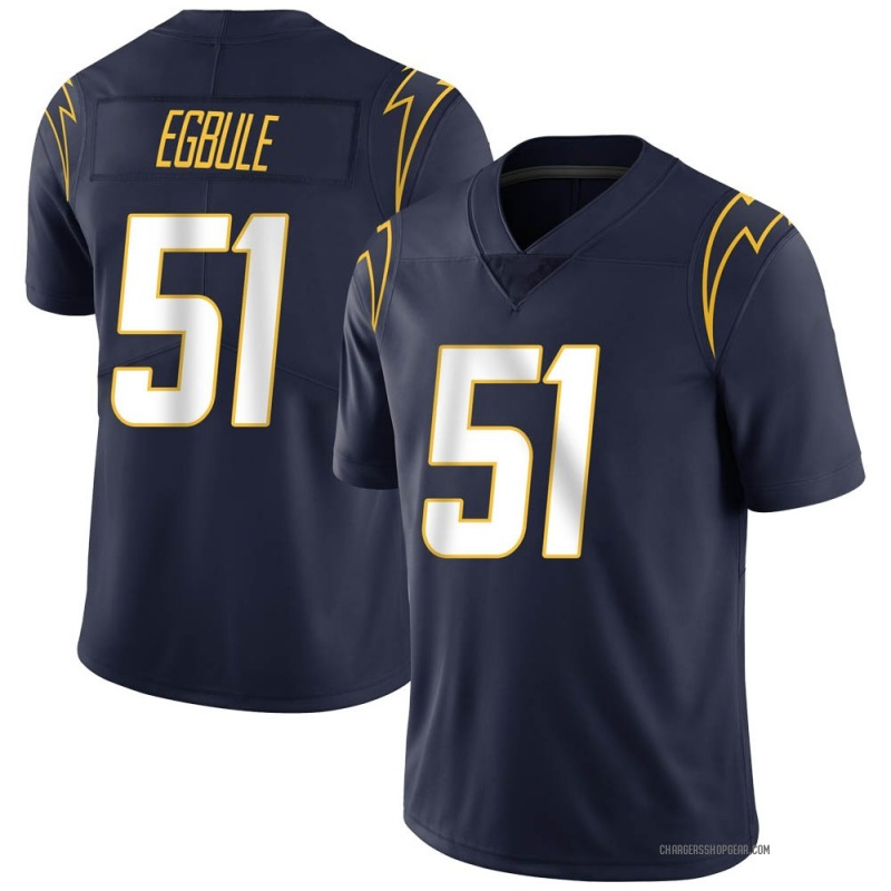 Youth Nike Los Angeles Chargers Emeke Egbule Navy Team Color Vapor Untouchable Jersey - Limited