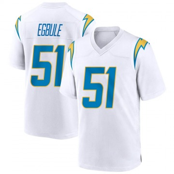 Youth Nike Los Angeles Chargers Emeke Egbule White Jersey - Game