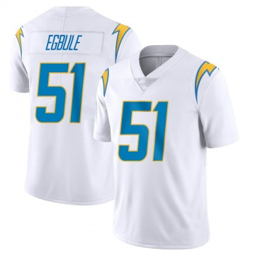 Youth Nike Los Angeles Chargers Emeke Egbule White Vapor Untouchable Jersey - Limited
