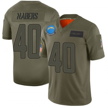 Youth Nike Los Angeles Chargers Gabe Nabers Camo 2019 Salute to Service Jersey - Limited