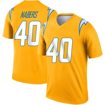 Youth Nike Los Angeles Chargers Gabe Nabers Gold Inverted Jersey - Legend