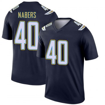 Youth Nike Los Angeles Chargers Gabe Nabers Navy Jersey - Legend