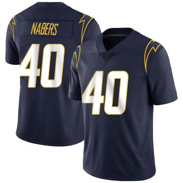 Youth Nike Los Angeles Chargers Gabe Nabers Navy Team Color Vapor Untouchable Jersey - Limited