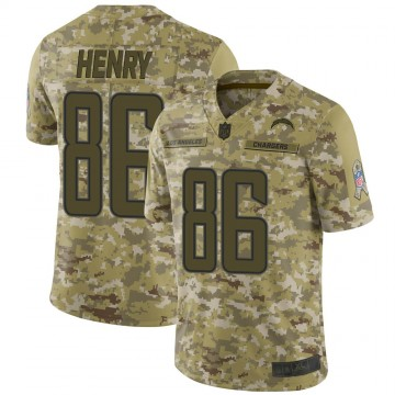 Youth Nike Los Angeles Chargers Hunter Henry Camo 2018 Salute to Service Jersey - Limited