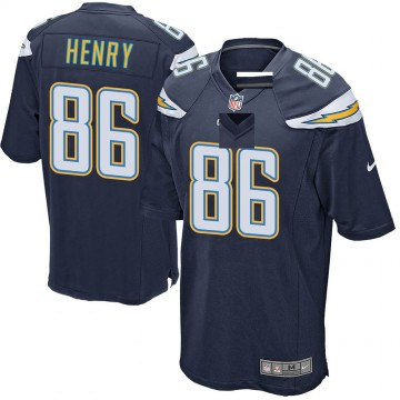 Youth Nike Los Angeles Chargers Hunter Henry Navy Team Color Jersey - Game