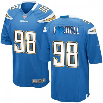 Youth Nike Los Angeles Chargers Isaac Rochell Blue Powder Alternate Jersey - Game