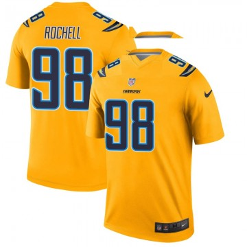 Youth Nike Los Angeles Chargers Isaac Rochell Gold Inverted Jersey - Legend