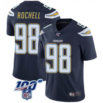 Youth Nike Los Angeles Chargers Isaac Rochell Navy 100th Vapor Jersey - Limited