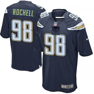 Youth Nike Los Angeles Chargers Isaac Rochell Navy Team Color Jersey - Game