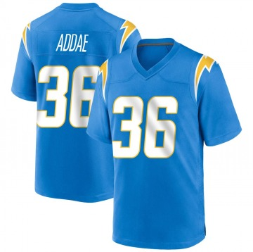 Youth Nike Los Angeles Chargers Jahleel Addae Blue Powder Alternate Jersey - Game
