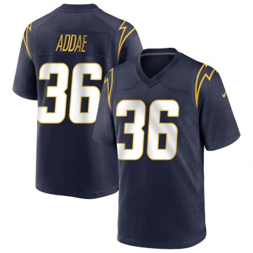 Youth Nike Los Angeles Chargers Jahleel Addae Navy Team Color Jersey - Game