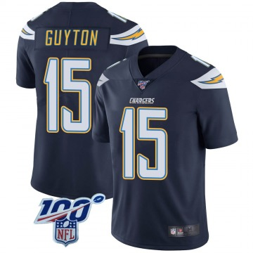 Youth Nike Los Angeles Chargers Jalen Guyton Navy 100th Vapor Jersey - Limited