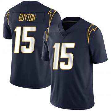 Youth Nike Los Angeles Chargers Jalen Guyton Navy Team Color Vapor Untouchable Jersey - Limited