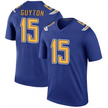 Youth Nike Los Angeles Chargers Jalen Guyton Royal Color Rush Jersey - Legend