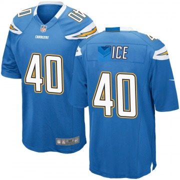 Youth Nike Los Angeles Chargers Jared Rice Blue Powder Alternate Jersey - Game