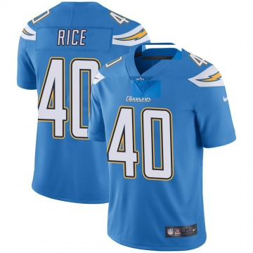 Youth Nike Los Angeles Chargers Jared Rice Blue Powder Vapor Untouchable Alternate Jersey - Limited