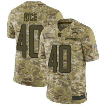 Youth Nike Los Angeles Chargers Jared Rice Camo 2018 Salute to Service Jersey - Limited