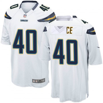 Youth Nike Los Angeles Chargers Jared Rice White Jersey - Game