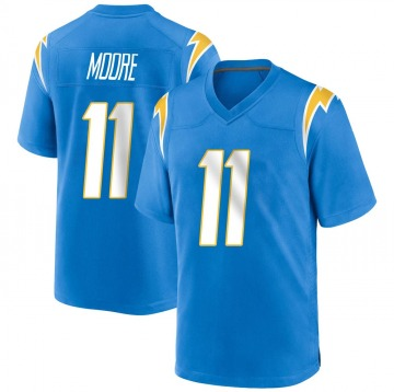 Youth Nike Los Angeles Chargers Jason Moore Blue Powder Alternate Jersey - Game