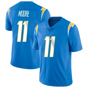 Youth Nike Los Angeles Chargers Jason Moore Blue Powder Vapor Untouchable Alternate Jersey - Limited