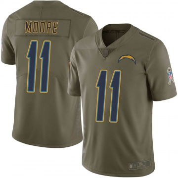 Youth Nike Los Angeles Chargers Jason Moore Green 2017 Salute to Service Jersey - Limited