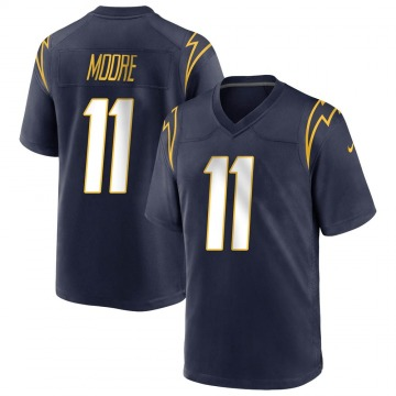 Youth Nike Los Angeles Chargers Jason Moore Navy Team Color Jersey - Game
