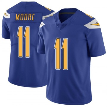 Youth Nike Los Angeles Chargers Jason Moore Royal Color Rush Vapor Untouchable Jersey - Limited