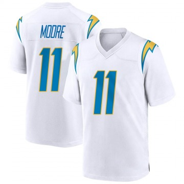 Youth Nike Los Angeles Chargers Jason Moore White Jersey - Game