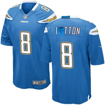 Youth Nike Los Angeles Chargers Jeff Cotton Blue Powder Alternate Jersey - Game