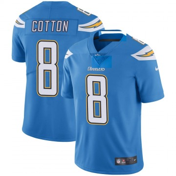 Youth Nike Los Angeles Chargers Jeff Cotton Blue Powder Vapor Untouchable Alternate Jersey - Limited