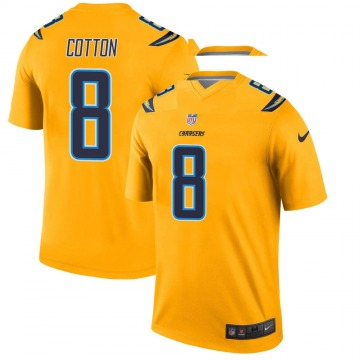 Youth Nike Los Angeles Chargers Jeff Cotton Gold Inverted Jersey - Legend