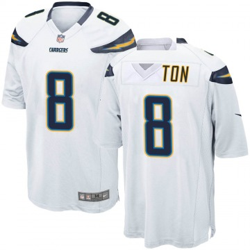 Youth Nike Los Angeles Chargers Jeff Cotton White Jersey - Game