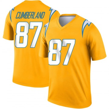 Youth Nike Los Angeles Chargers Jeff Cumberland Gold Inverted Jersey - Legend