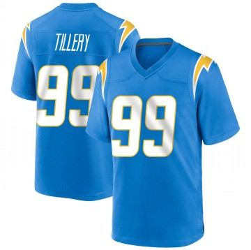 Youth Nike Los Angeles Chargers Jerry Tillery Blue Powder Alternate Jersey - Game