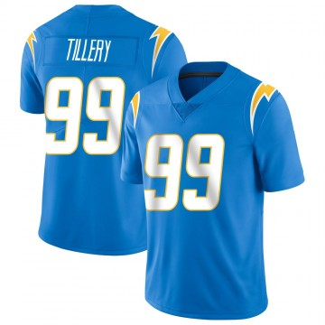 Youth Nike Los Angeles Chargers Jerry Tillery Blue Powder Vapor Untouchable Alternate Jersey - Limited