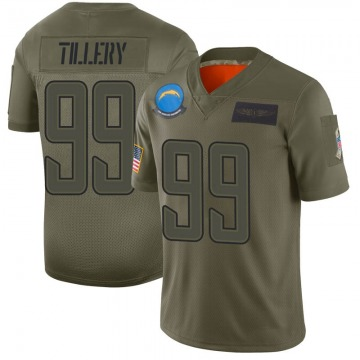 Youth Nike Los Angeles Chargers Jerry Tillery Camo 2019 Salute to Service Jersey - Limited