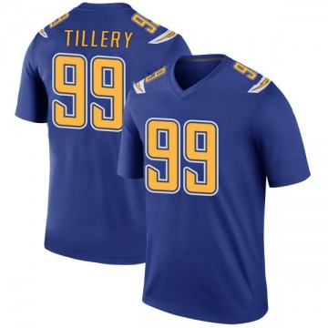Youth Nike Los Angeles Chargers Jerry Tillery Royal Color Rush Jersey - Legend