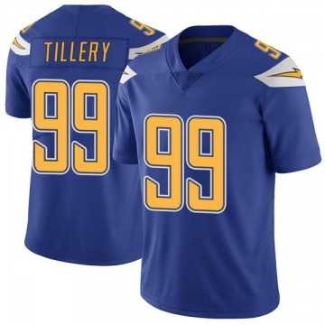 Youth Nike Los Angeles Chargers Jerry Tillery Royal Color Rush Vapor Untouchable Jersey - Limited