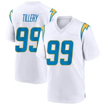 Youth Nike Los Angeles Chargers Jerry Tillery White Jersey - Game