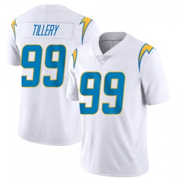 Youth Nike Los Angeles Chargers Jerry Tillery White Vapor Untouchable Jersey - Limited