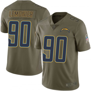 Youth Nike Los Angeles Chargers Jessie Lemonier Green 2017 Salute to Service Jersey - Limited